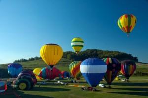 Photo of hot air balloons