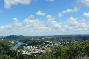Photo of the Morgantown valley